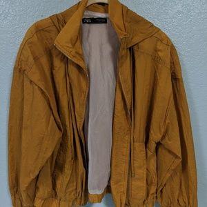 Zara Jackets & Coats - ZARA WRINKLE LOOK JACKET MUSTARD MEDIUM M